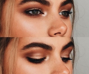 makeup, eyebrows, and girl image
