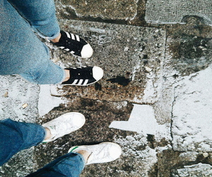 adidas, floor, and rain image