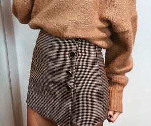 brown, skirt, and fashion image