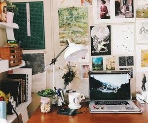 desk, room, and study image