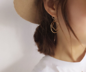 earrings, minimalism, and clothing image