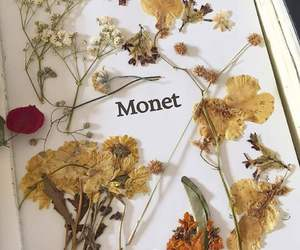 monet, flowers, and art image