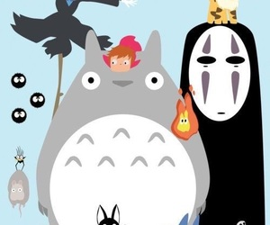 anime, totoro, and studio ghibli image