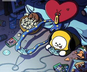 bts, bt21, and tata image