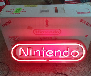 neon, nintendo, and red image