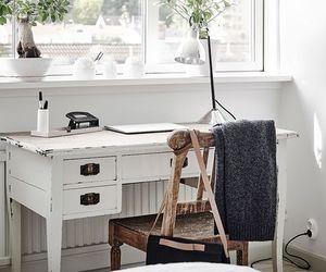 bedroom, decoration, and desk image