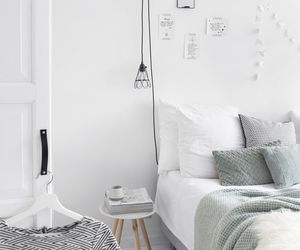 architecture, bedroom, and art image