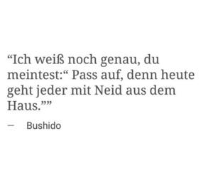 bushido, deutschrap, and zitat image