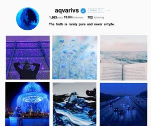 aesthetic, aquarius, and blue image