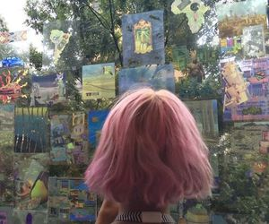 pink, hair, and aesthetic image