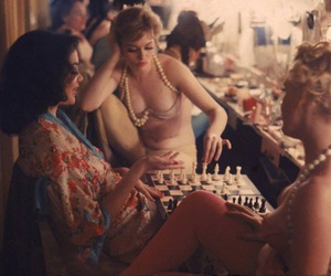 1950s, 1958, and chess image