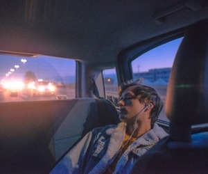 boy, car, and music image
