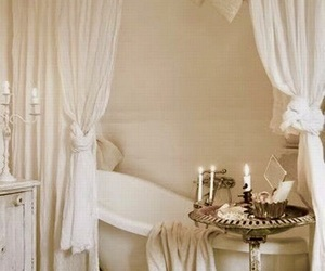 bathrooms, decor, and romantic image