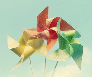 pinwheel, colorful, and sky image