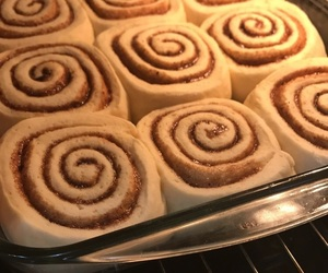 Cinnamon, rolls, and hey image