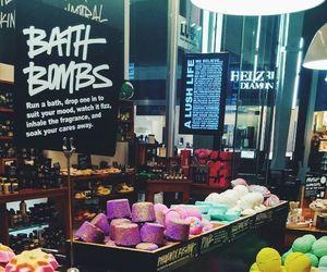 lush, bath, and bath bombs image