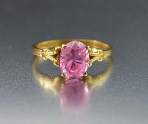 gold, intage, and pink image