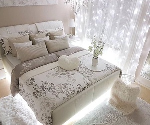 bed, bedroom, and decoration ideas image