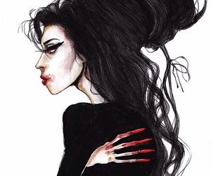 Amy Winehouse, art, and amy image
