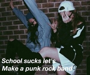 rock, band, and grunge image