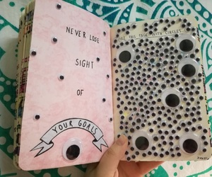 googly eyes and wreck this journal image