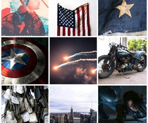 aesthetic, captain america, and edit image