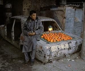 orange, boy, and car image