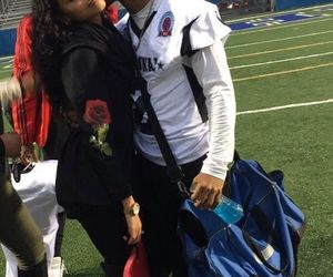 couple, football, and Relationship image