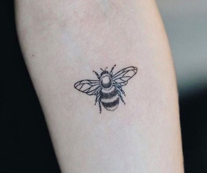 tattoo, bee, and ink image