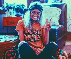 hippie, girl, and good vibes image