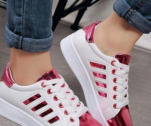 sneakers and pink image