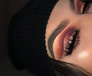beauty, glitter, and eyebrows image