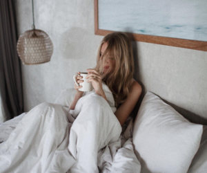 girl, bed, and morning image