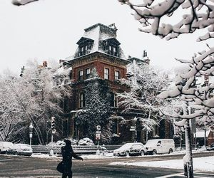 architecture, house, and winter image