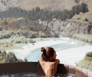 back, bath, and girl image