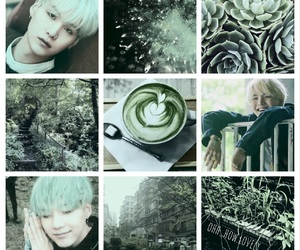 aesthetic, kpop, and light green image