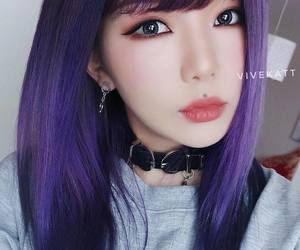 asian, hairstyle, and makeup image