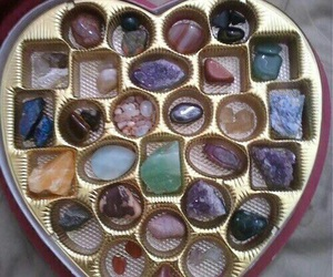 heart, crystal, and aesthetic image