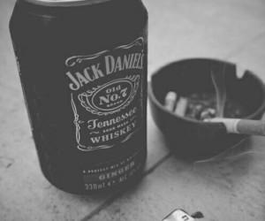 jack daniels, smoke, and cigarette image