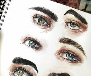 art, gestures, and eyes image