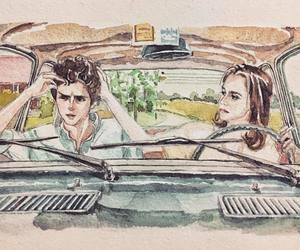 art, boyfriend, and car image
