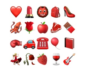 apple, png, and red image