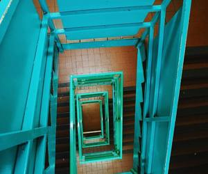 blue, azúl, and staircase image