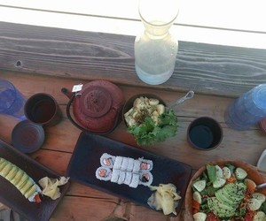 healthy, yum, and sushi image