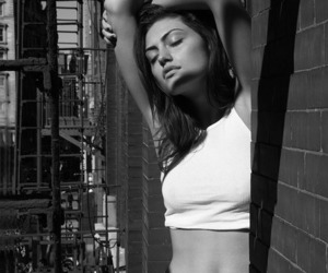 phoebe tonkin, black and white, and Calvin Klein image