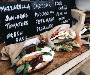 food, sandwiches, and yummy image