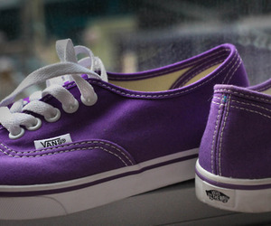 vans, purple, and shoes image