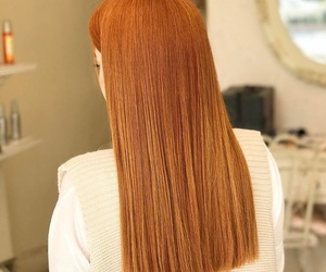 girl, hair, and orange image