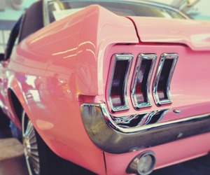 cars, mustang, and pink image