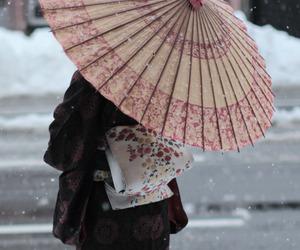 japan, kimono, and snow image